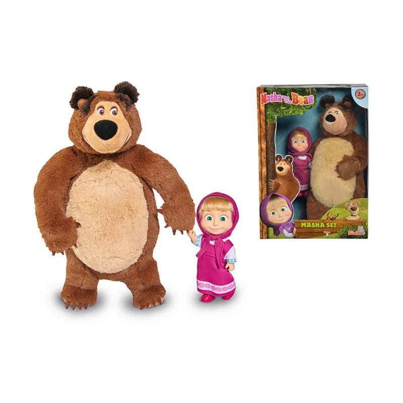 Masha Mini - Doll E Orso Peluche 25 Cm - Simba  - MazzeoGiocattoli.it
