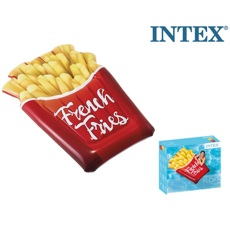 Materassino Mare Design Patatine Fritte - Intex - MazzeoGiocattoli.it