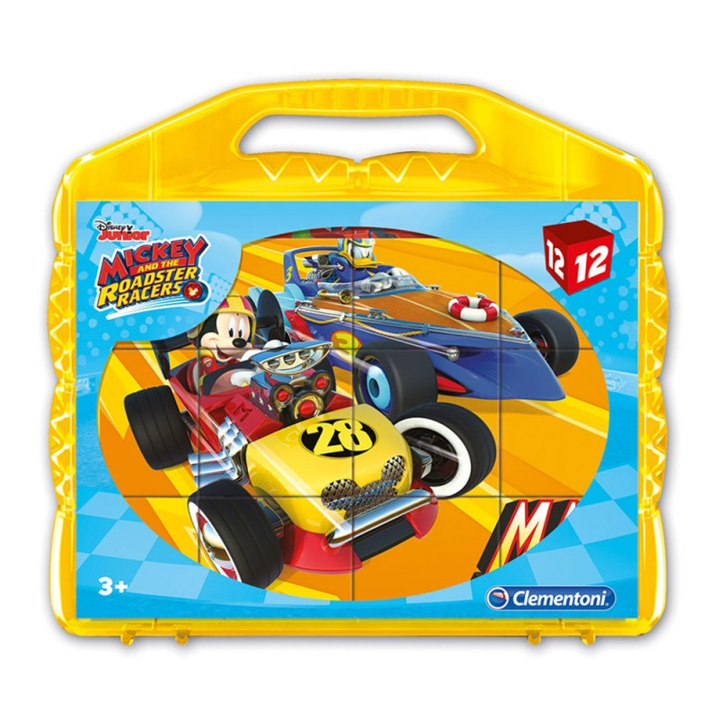 Mickey And The Roadster Racer 12 Cubi - Clementoni - MazzeoGiocattoli.it