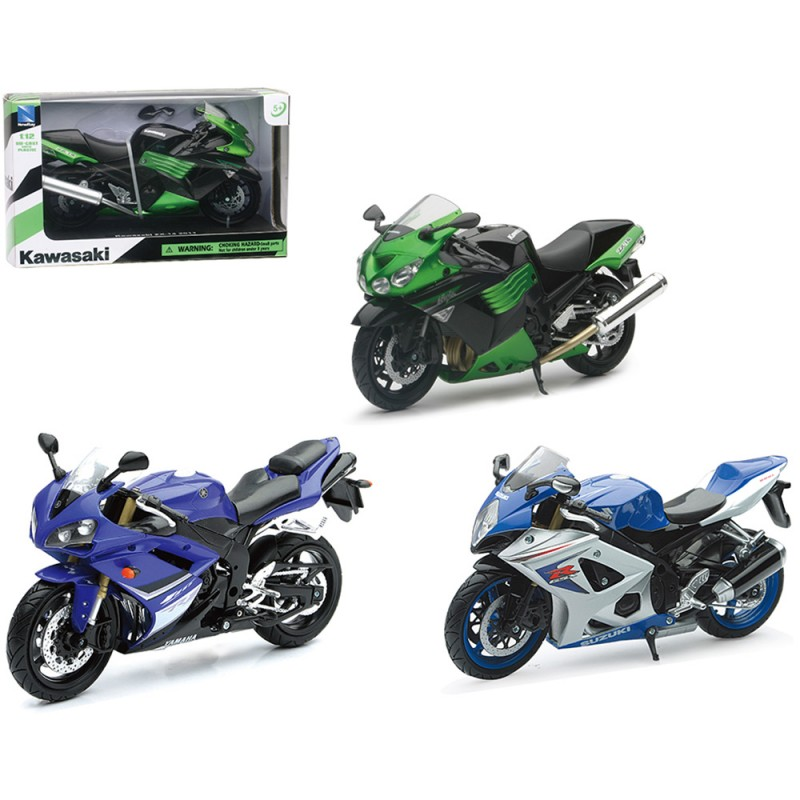 Modellino Yamaha-Suzuki-Kawasaki 1:12 - Newray  - MazzeoGiocattoli.it