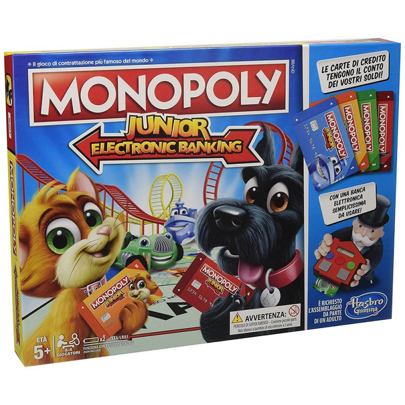 Monopoly Junior Electronic Banking - Hasbro  - MazzeoGiocattoli.it