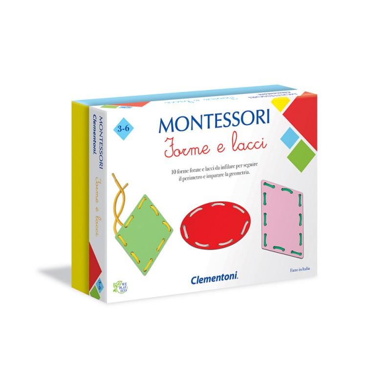 Montessori Forme E Lacci - Clementoni  - MazzeoGiocattoli.it