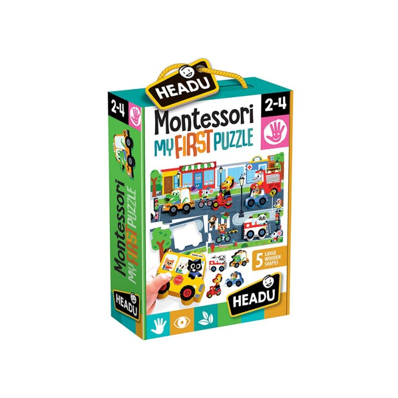 Montessori My First Puzzle - Headu  - MazzeoGiocattoli.it