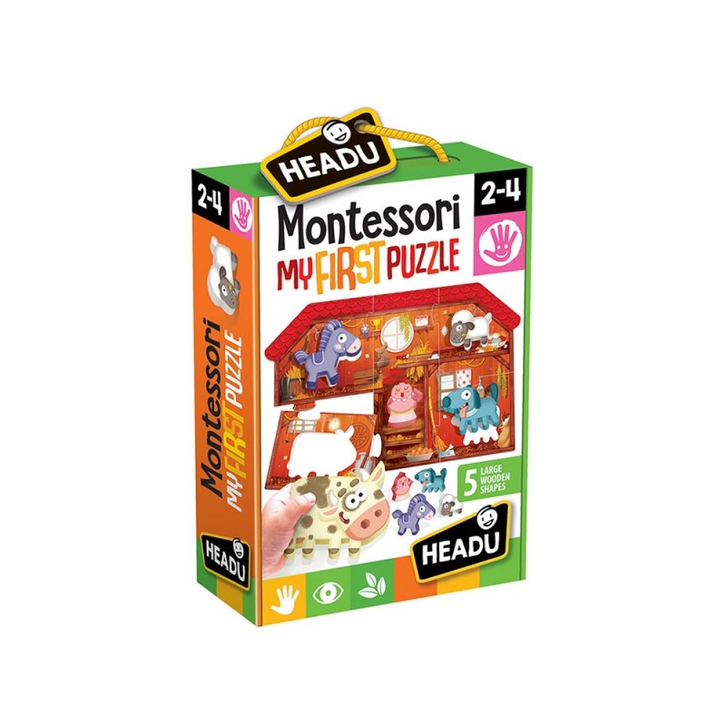 Primi Incastri Montessori La Fattoria IT20140 - Headu  - MazzeoGiocattoli.it