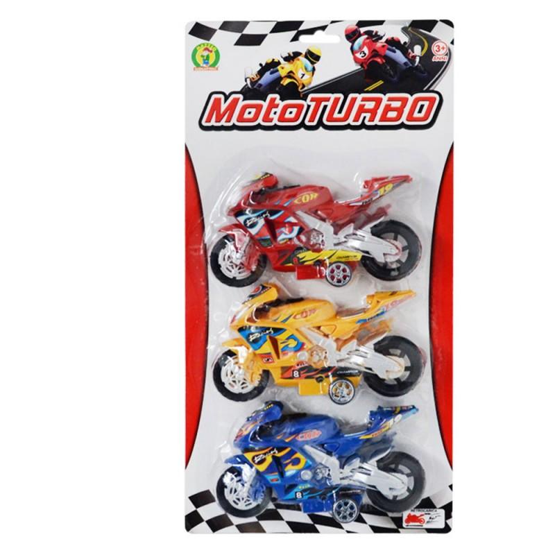 Modellini Di Moto Da Corsa 3 Moto Turbo- Mazzeo Giocattoli - MazzeoGiocattoli.it