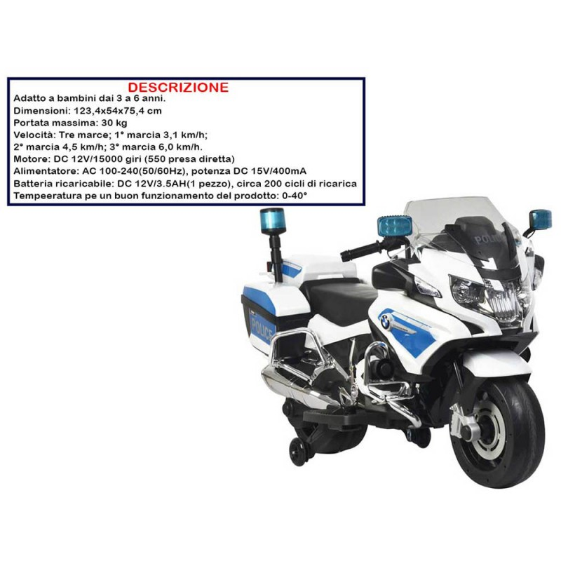 Moto Cavalcabile Bmw - Mazzeo Giocattoli   - MazzeoGiocattoli.it