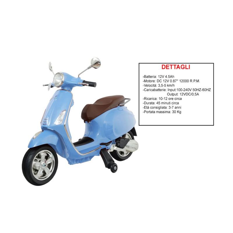 Moto Vespa Primavera - Blu - Mazzeo  - MazzeoGiocattoli.it