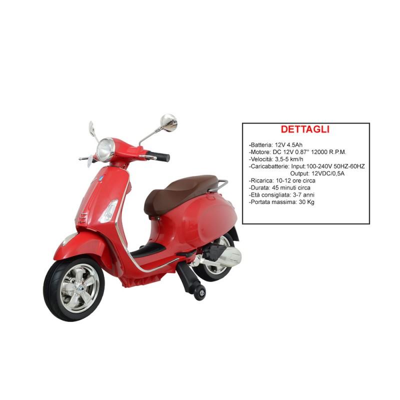 Moto Vespa Primavera - Rossa - Mazzeo - MazzeoGiocattoli.it