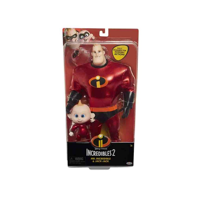 Mr.Incredible & Jack-Jack Incredibili 2 - Jakks Pacific  - MazzeoGiocattoli.it
