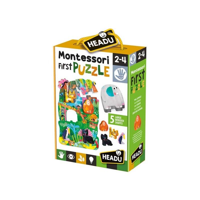 My First Puzzle The Jungle - Headu  - MazzeoGiocattoli.it