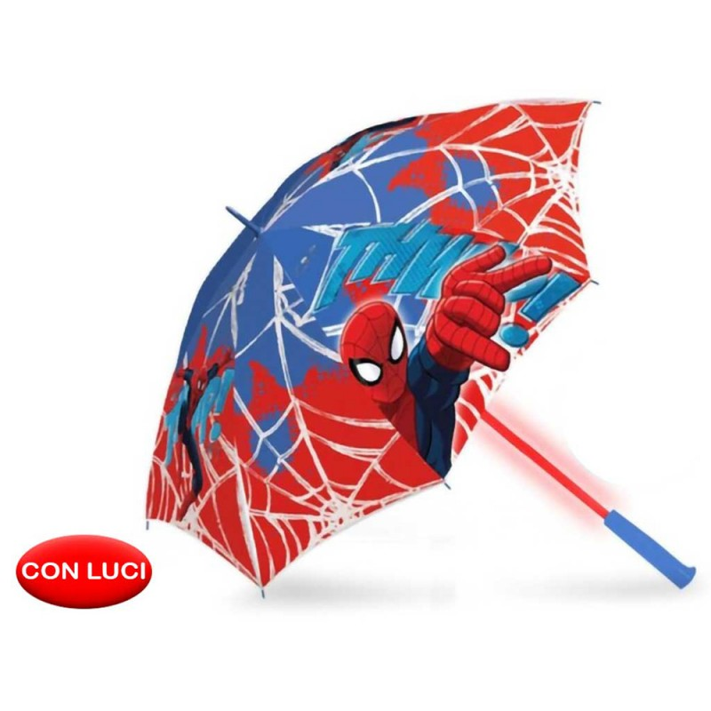 Ombrello Classico Spiderman Con Led - MazzeoGiocattoli.it