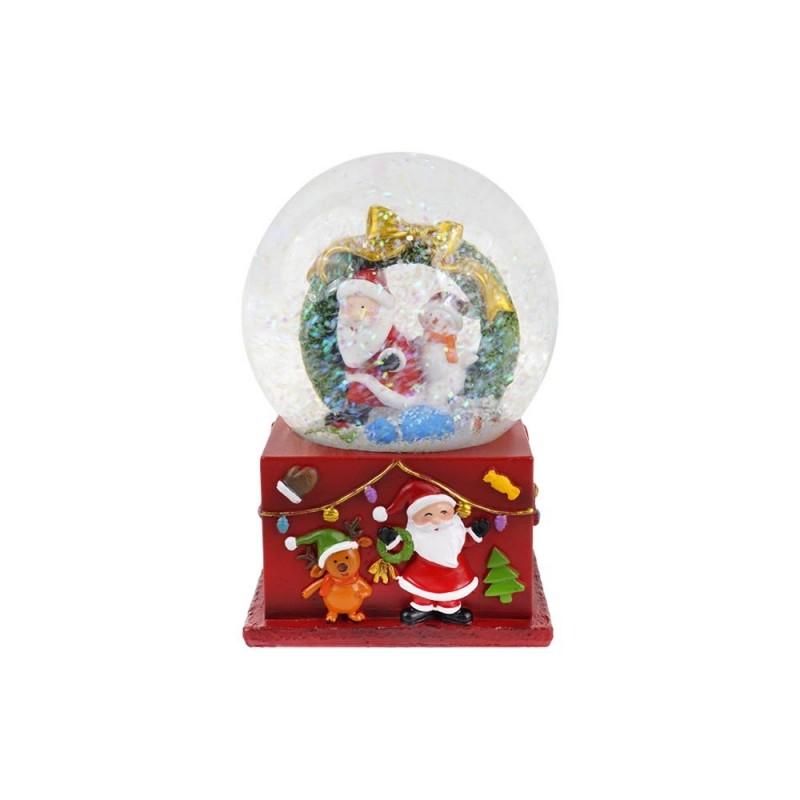 Palla Di Natale In Vetro Con Babbo Natale E Regali  - MazzeoGiocattoli.it