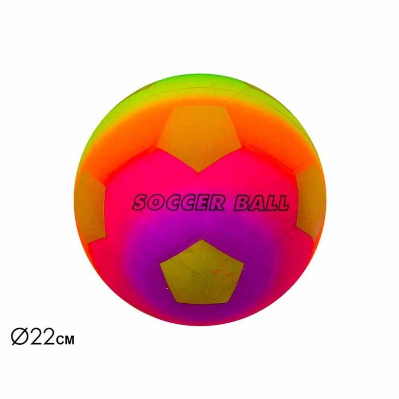 Pallone Da Calcio Multicolore 22 Cm - Mazzeo Giocattoli - MazzeoGiocattoli.it