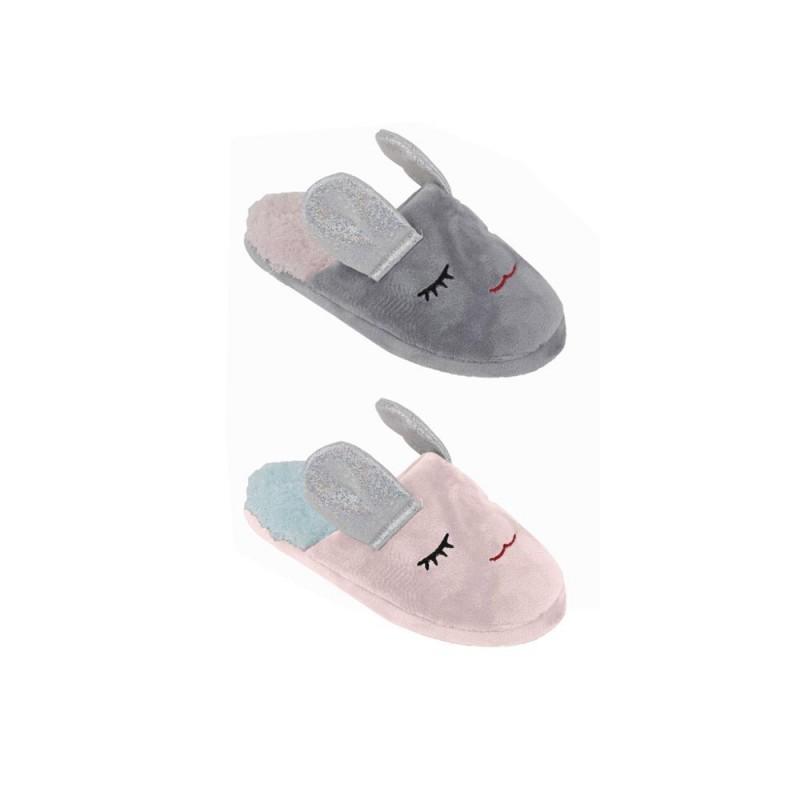 Pantofola Per Bimba In Poliestere Modello Coniglietto  - MazzeoGiocattoli.it
