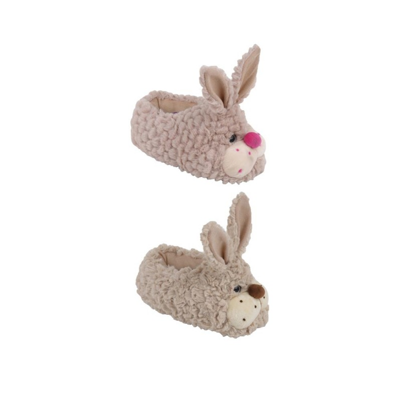 Pantofola Per Bimbi In Tessuto Con Coniglietto Modello Bunny  - MazzeoGiocattoli.it