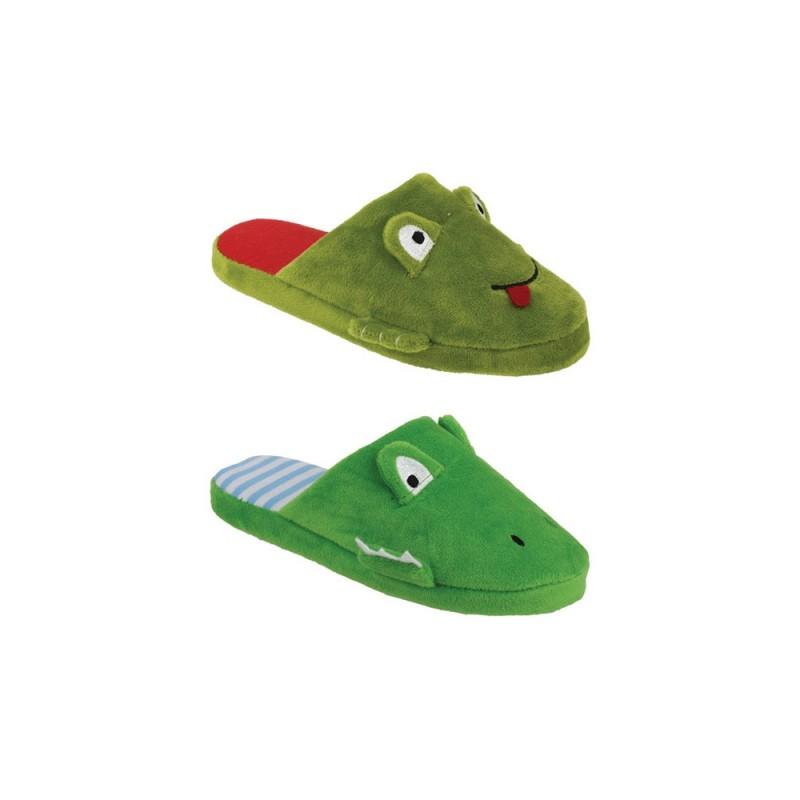 Pantofola Per Bimbi In Tessuto Modello Coccodrillo  - MazzeoGiocattoli.it