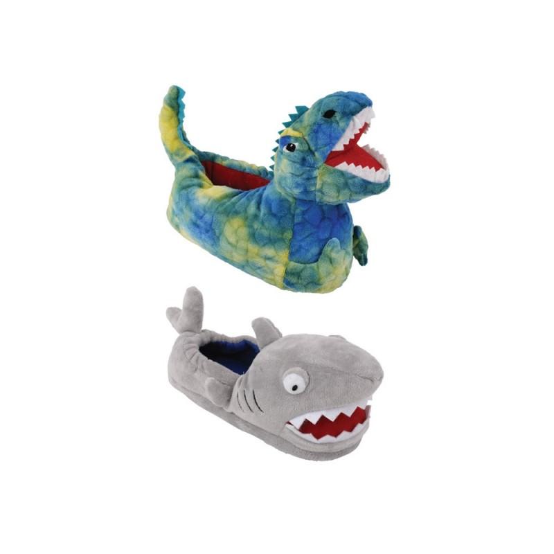 Pantofola Per Bimbi In Tessuto Modello Dino&Shark  - MazzeoGiocattoli.it