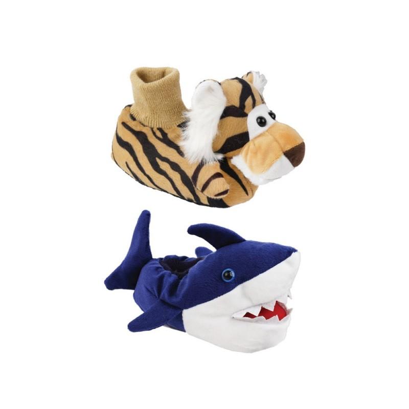 Pantofola Per Bimbi In Tessuto Peluche Modello Wild  - MazzeoGiocattoli.it