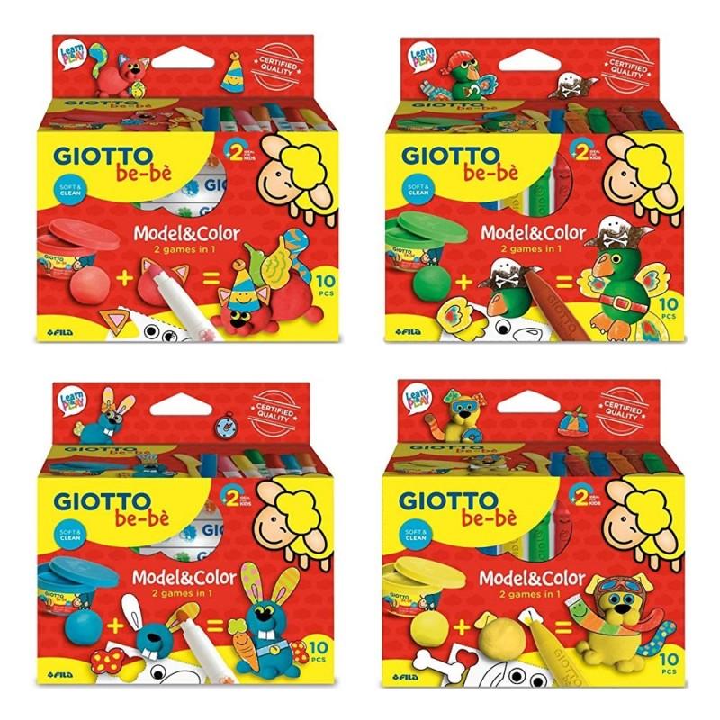 Bebè Model&Color 2 Games In 1 - Giotto  - MazzeoGiocattoli.it
