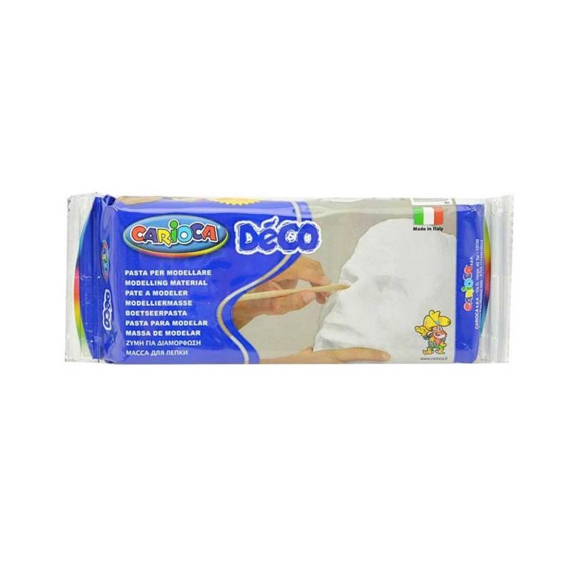 Pasta Modellabile Decò Bianca In Confezione Da 500gr - Carioca  - MazzeoGiocattoli.it
