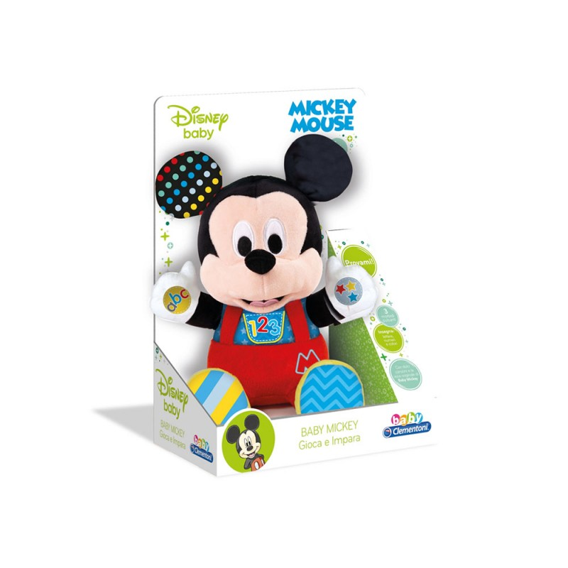 Disney Baby Mickey - Peluche Parlante - Clementoni  - MazzeoGiocattoli.it