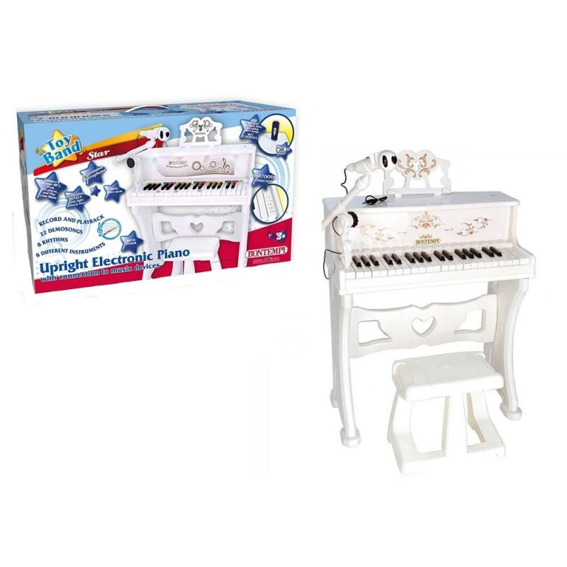 Piano Verticale Con Cavo Usb E Bluetooth - Bontempi - MazzeoGiocattoli.it
