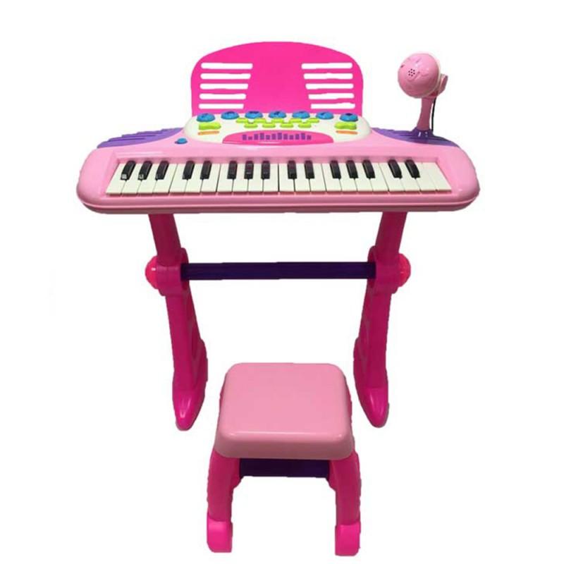 Pianola 37 Tasti Gioca E Suona Rosa - Mazzeo Giocattoli - MazzeoGiocattoli.it