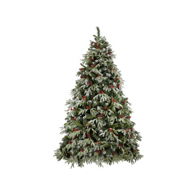 Albero Di Natale Modello Pino Delle Murge Innevato Con Pigne E Bacche Cm 240  - MazzeoGiocattoli.it