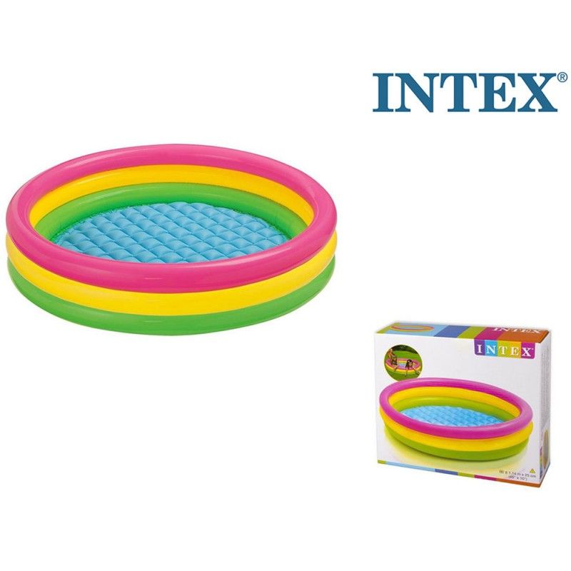 Piscina 3 Anelli 114cm - Intex  - MazzeoGiocattoli.it
