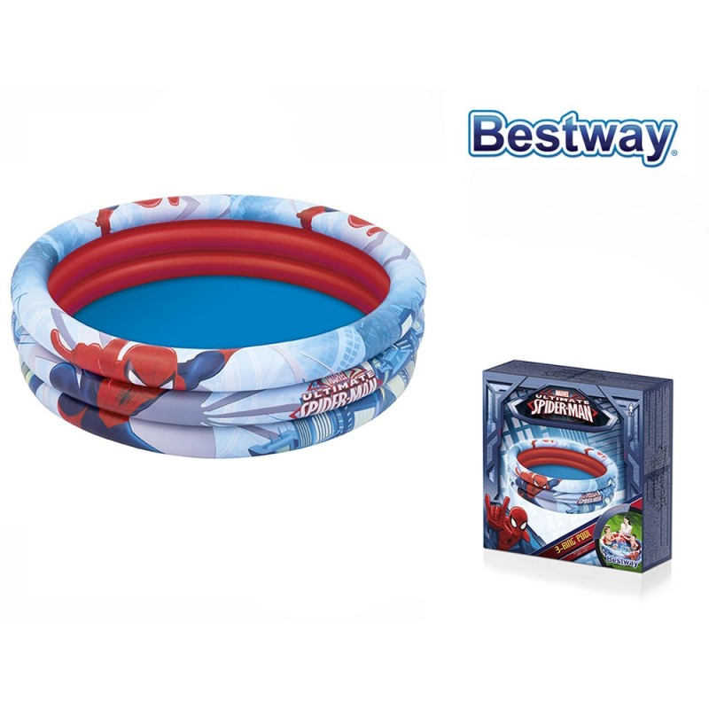 Piscina 3 Anelli Spider Man - Bestway  - MazzeoGiocattoli.it