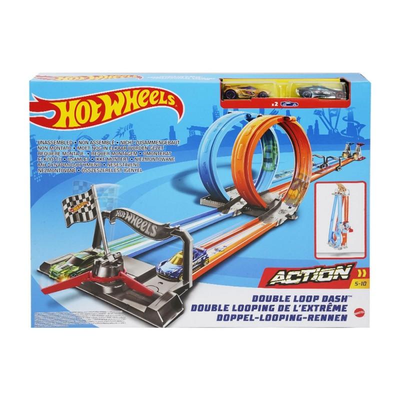 Pista Hot Wheels Doppio Giro Mortale - Mattel  - MazzeoGiocattoli.it