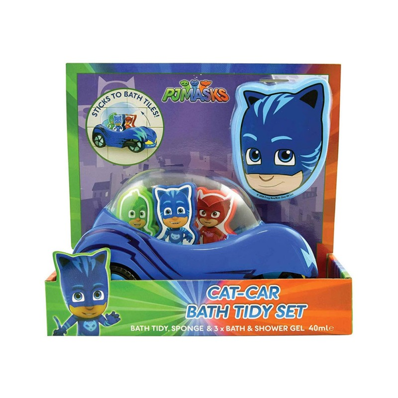 Pj Masks Cat-Car Bath Tidy Set  - MazzeoGiocattoli.it