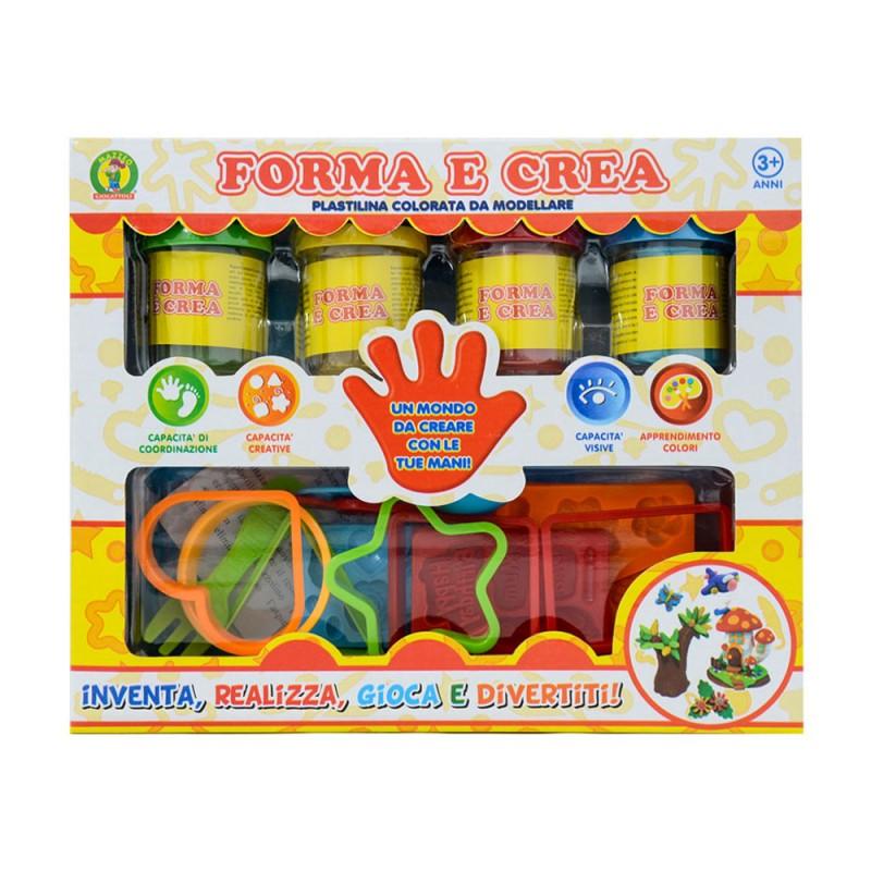Plastilina Colorata Forma E Crea - Mazzeo Giocattoli - MazzeoGiocattoli.it