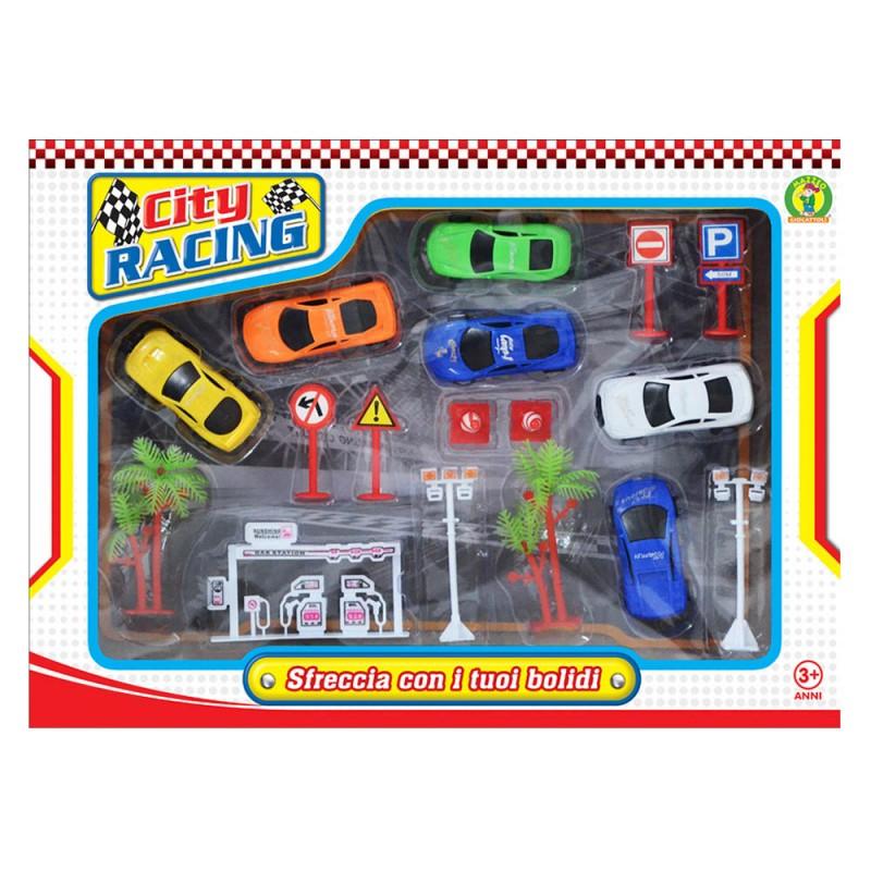 Playset Auto E Accessori City Racing - Mazzeo Giocattoli - MazzeoGiocattoli.it