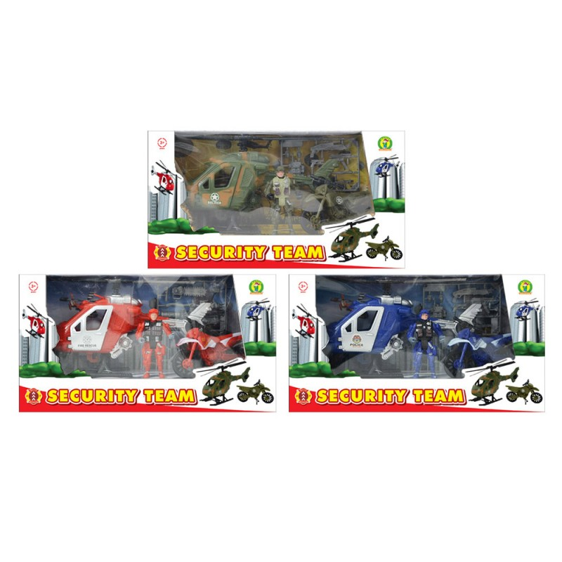 Playset Modellini Security Team - Mazzeo Giocattoli  - MazzeoGiocattoli.it