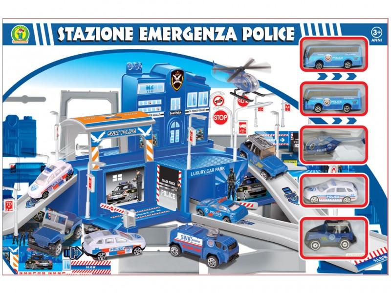 Playset Stazione Della Polizia Emergenza Police - Mazzeo Giocattoli  - MazzeoGiocattoli.it