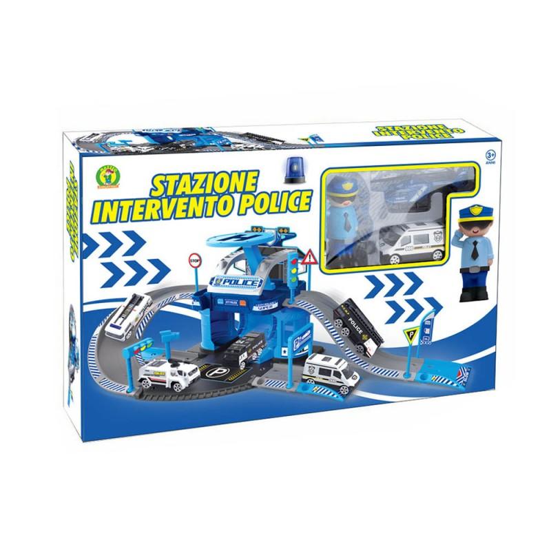 Playset Stazione Intervento Polizia - Mazzeo Giocattoli  - MazzeoGiocattoli.it