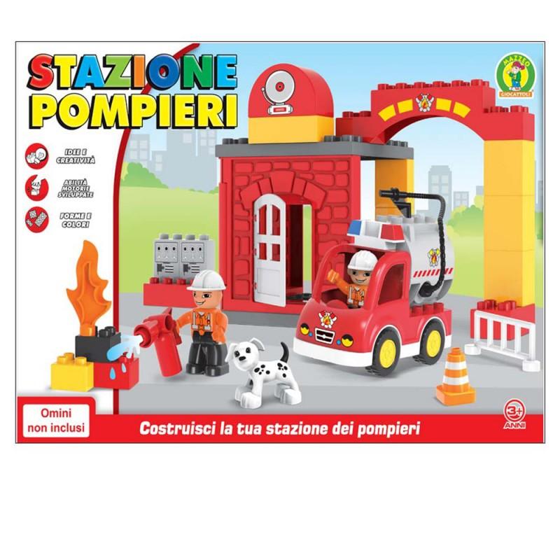 Costruzioni Per Bambini - Stazione Dei Pompieri 35 Pz - Mazzeo Giocattoli - MazzeoGiocattoli.it