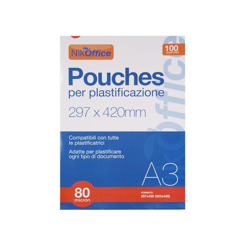 Pouches Per Plastificare 80 Micron A3  - MazzeoGiocattoli.it