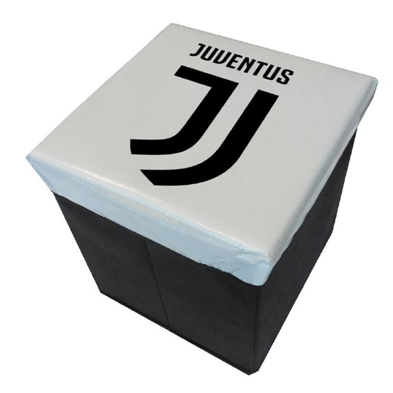 Pouf Contenitore Pieghevole Juventus  - MazzeoGiocattoli.it