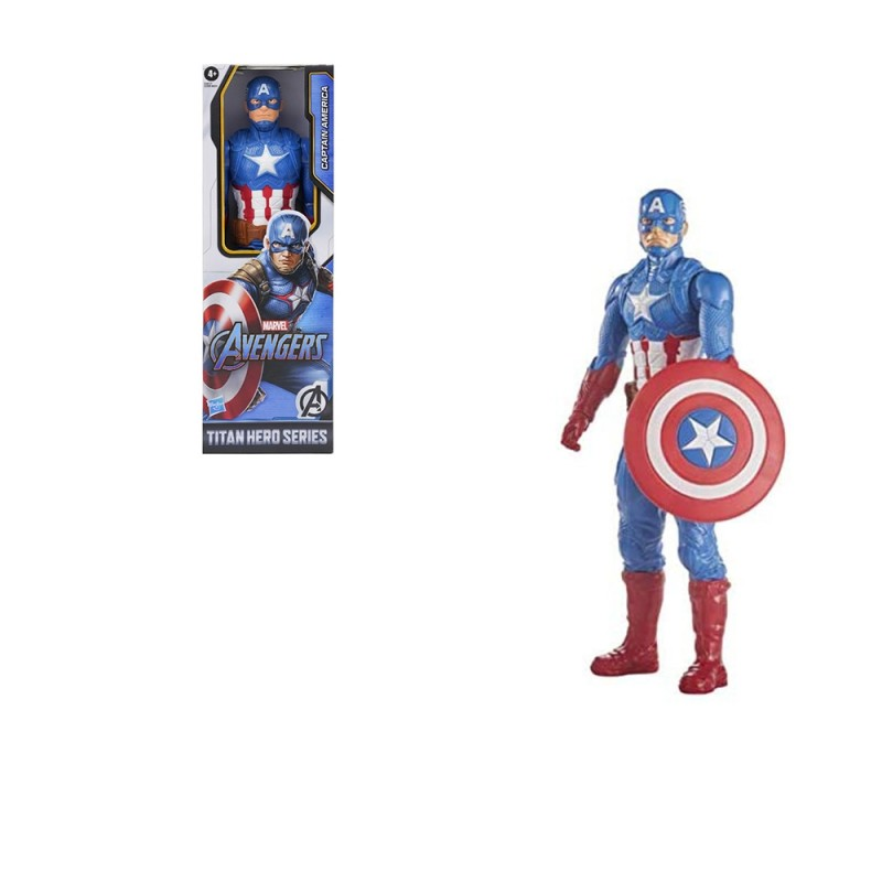 Pupazzo Avengers Titan Hero Capitan America - Hasbro  - MazzeoGiocattoli.it