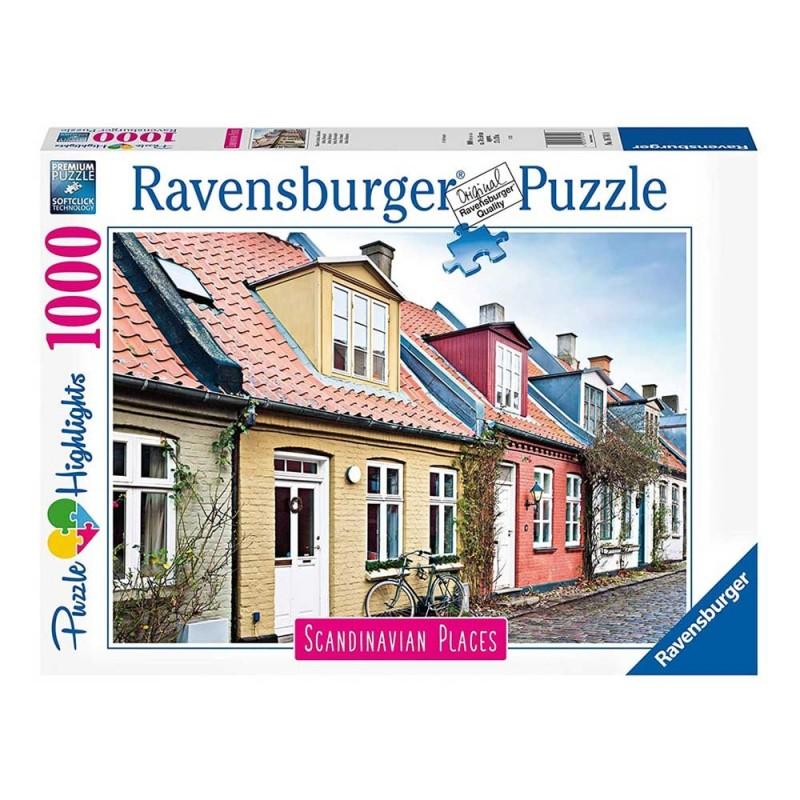 Puzzle 1000 Pz Aarhus, Danimarca - Ravensburger  - MazzeoGiocattoli.it