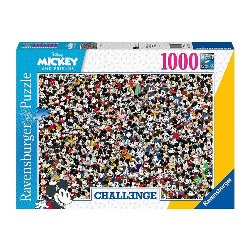 Puzzle 1000 Pz Challenge Mickey - Ravensburger  - MazzeoGiocattoli.it