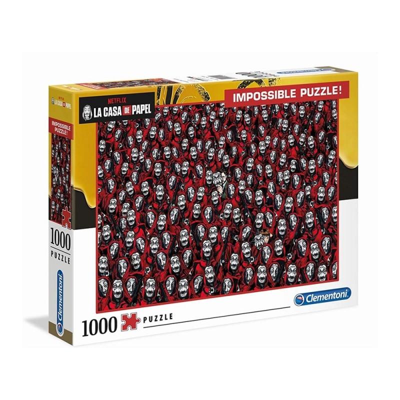 Puzzle 1000 Pz Impossible La Casa Di Carta - Clementoni  - MazzeoGiocattoli.it