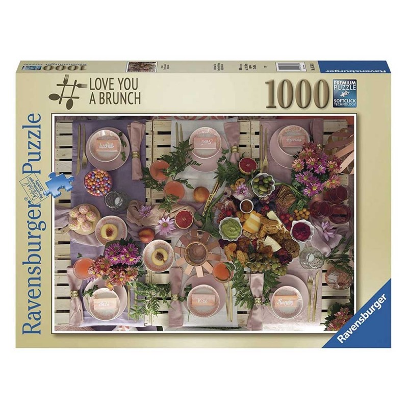 Puzzle 1000 Pz Love You A Brunch - Ravensburger  - MazzeoGiocattoli.it