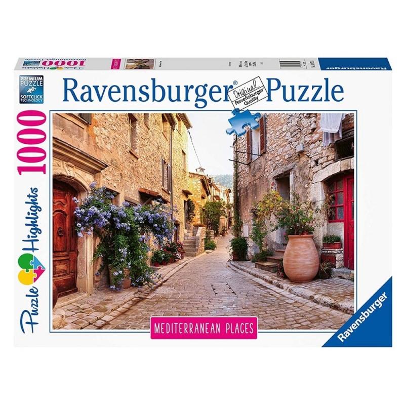Puzzle 1000 Pz Mediterranean France - Ravensburger  - MazzeoGiocattoli.it