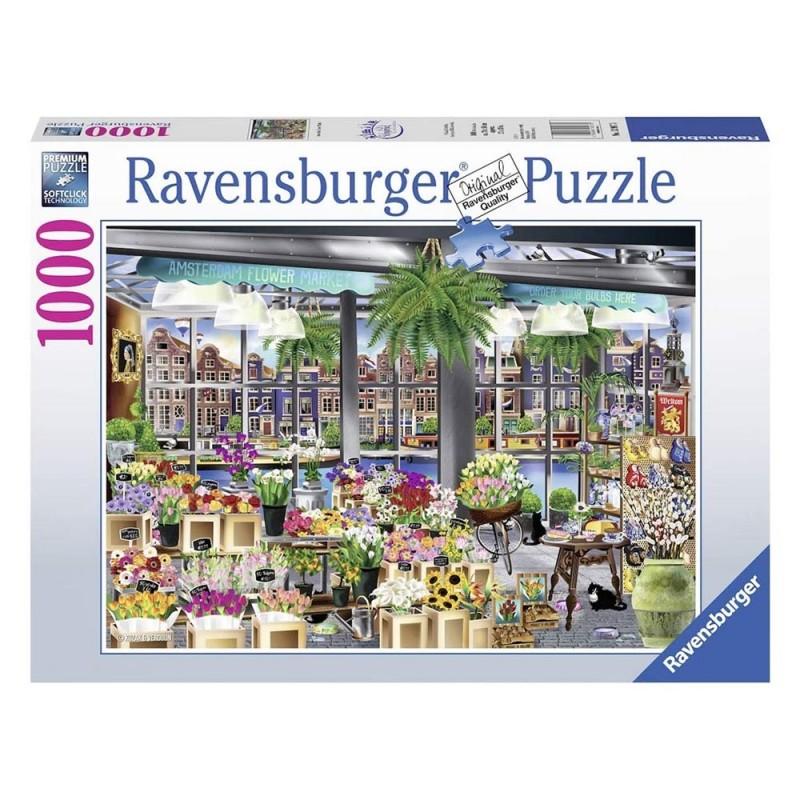 Puzzle 1000 Pz Mercato Dei Fiori Ad Amsterdam - Ravensburger  - MazzeoGiocattoli.it