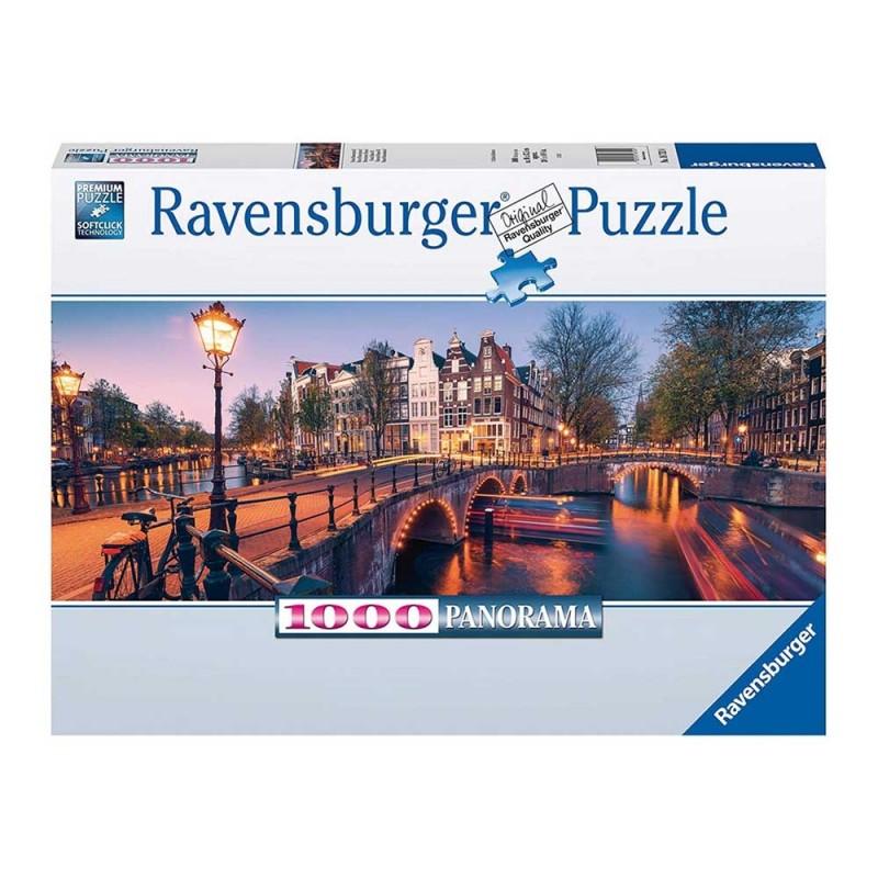 Puzzle 1000 Pz Una Sera Ad Amsterdam - Ravensburger - MazzeoGiocattoli.it