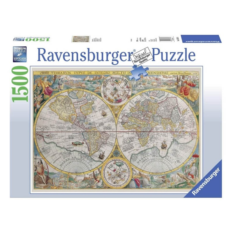 Puzzle 1500 Pz Mappamondo Storico - Ravensburger  - MazzeoGiocattoli.it