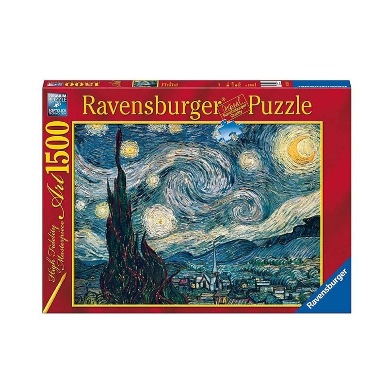 Puzzle 1500 Pz Notte Stellata Di Van Gogh - Ravensburger  - MazzeoGiocattoli.it